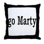 go Marty Throw Pillow