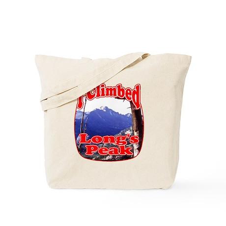 I Climbed Long s Peak Tote Bag