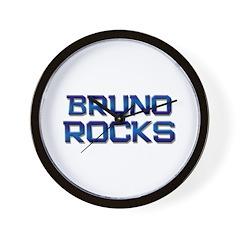 bruno rocks Wall Clock