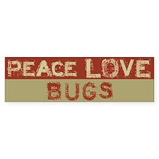 Peace Love Bugs Bumper Car Sticker