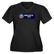 Funny Anti obama Women's Plus Size V-Neck Dark T-Shirt