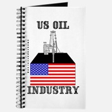US Oil Industry Journal, Notebook,US Flag,Oil,Gas,