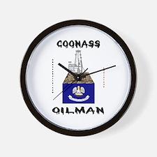 Coonass Oilman Wall Clock, Oil Rigs,Oil,Gas,