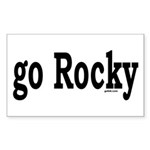 go Rocky Rectangle Sticker