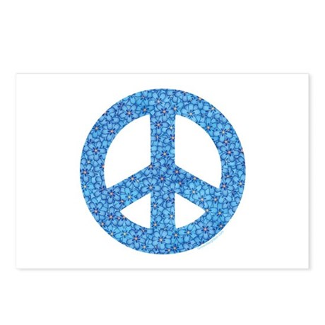 Flower Peace Sign Postcards (Package of 8)