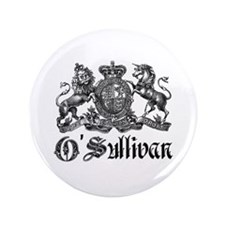 "O'Sullivan Vintage Family Crest 3.5"" Button"