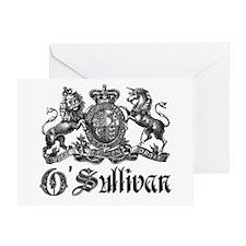 O'Sullivan Vintage Family Crest Greeting Card