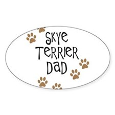 Skye Terrier Dad Oval Decal