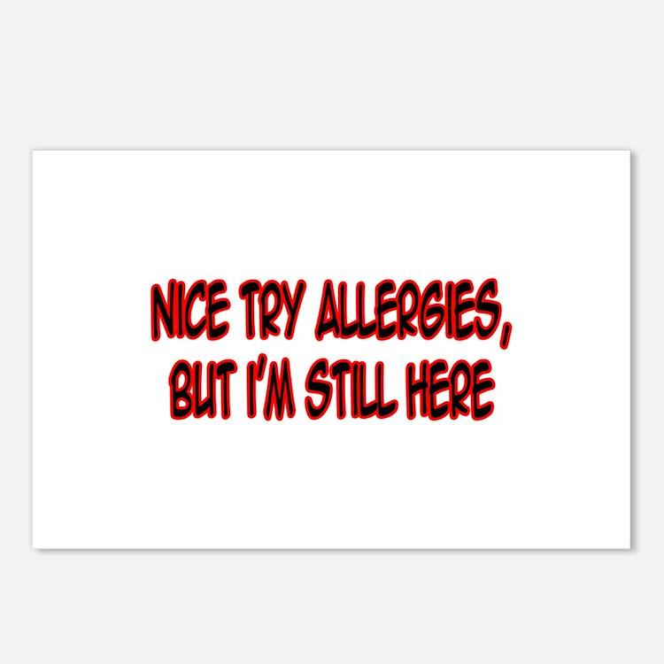 """""""Nice Try Allergies..."""" Postcards (Package of 8)"""