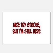 """Nice Try Stroke..."" Postcards (Package of 8)"