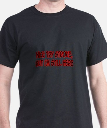Stroke survivor gifts merchandise stroke survivor gift ideas nice try stroke t shirt negle Image collections