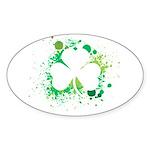 St. Patrick's Day Oval Sticker (10 pk)