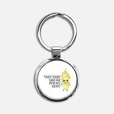 Cute My body my choice Round Keychain