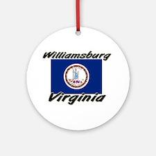 Williamsburg virginia Ornament (Round)