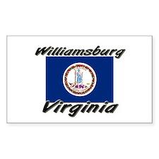Williamsburg virginia Rectangle Decal