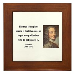 Voltaire 14 Framed Tile