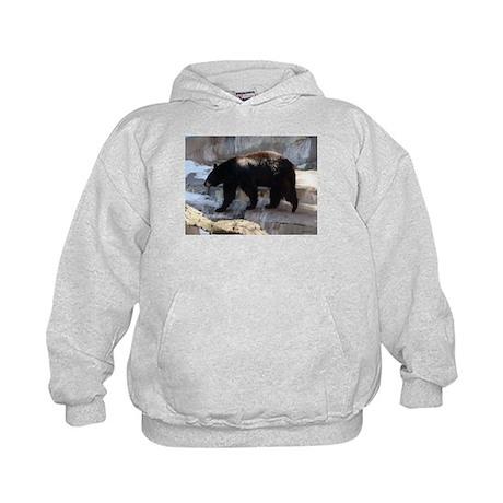 Bear Photograph Digitally Alt Kids Hoodie