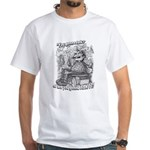 """You gonna talk or fish?"" White T-Shirt"