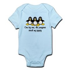 One by one, the penguins Infant Bodysuit