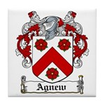 Agnew Coat of Arms Tile Coaster