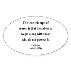 Voltaire 14 Oval Decal