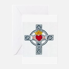 claddagh cross Greeting Cards (Pk of 10)