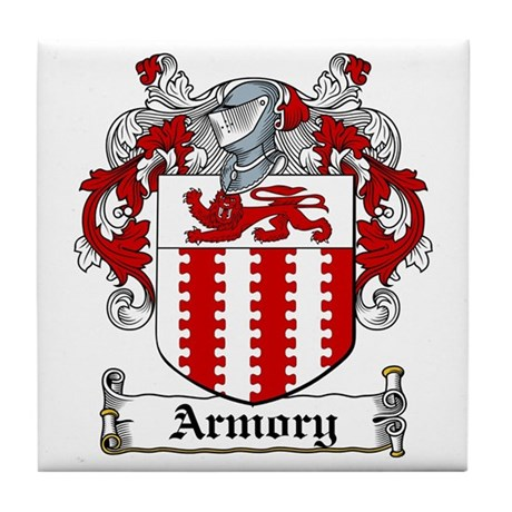 Armory Coat of Arms Tile Coaster