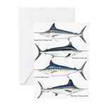 4 Marlin Greeting Cards (Pk of 20)