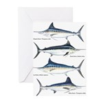 4 Marlin Greeting Cards (Pk of 10)