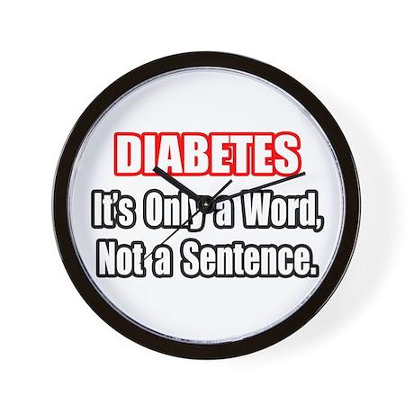 """Diabetes Quote"" Wall Clock"