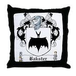 Bakster Coat of Arms Throw Pillow