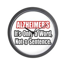 """Alzheimer's Quote"" Wall Clock"