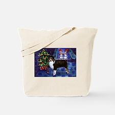 AUSTRALIAN SHEPHERD tri snowm Tote Bag