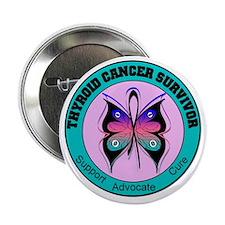 """Thyroid Cancer Survivor 2.25"""" Button"""