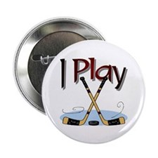 I Play Hockey Button