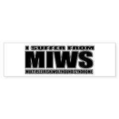 Irish Wolfhound Bumper Sticker