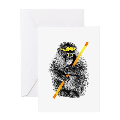 Monkey King Wukong Greeting Card