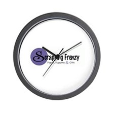 Scrapping Frenzy Wall Clock