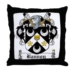 Bannon Coat of Arms Throw Pillow