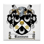 Bannon Coat of Arms Tile Coaster