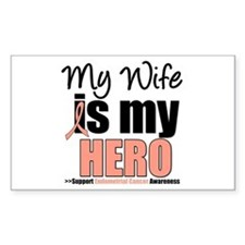 EndometrialCancerHeroWife Rectangle Decal