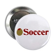 "Olive (I Love) Soccer 2.25"" Button"
