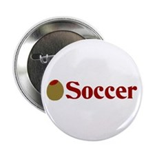 "Olive (I Love) Soccer 2.25"" Button (10 pack)"