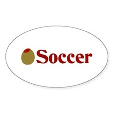 Olive (I Love) Soccer Oval Decal