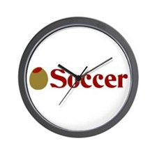 Olive (I Love) Soccer Wall Clock