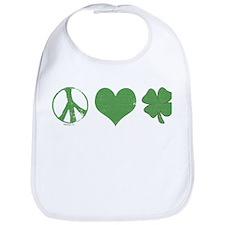 Peace Love Irish Bib