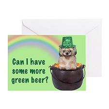 Shih Tzu St. Patrick's Day Greeting Card
