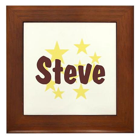 Personalized Steve Framed Tile