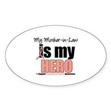 EndometrialCancerMother-in-Law Oval Decal