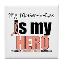 EndometrialCancerMother-in-Law Tile Coaster